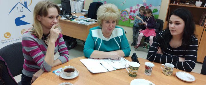 Встреча молодых матерей с Уполномоченной по правам ребенка в Смоленской области