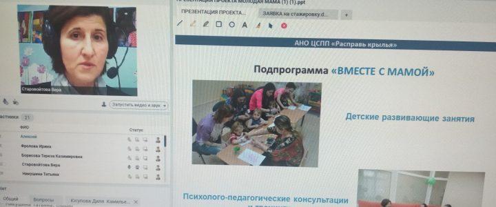 Вебинар-перзентация проекта «Молодая мама» для специалистов