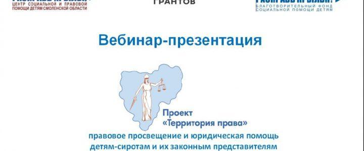 Презентация проекта «Территория права» для специалистов